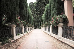 Ingång till trädgårdarna av Monforte Royaltyfria Foton