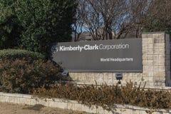 Ingång till världshögkvarter av Kimberly-Clark i Irving, Tex fotografering för bildbyråer