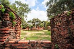 Ingång till Wat Phra Si Sanphet i Ayutthaya, Thailand Royaltyfri Fotografi