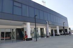 Ingången av det Juventus museet nära den Allianz stadion royaltyfri foto