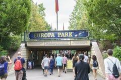 Ingången av Europa parkerar i rost, Tyskland Arkivbild