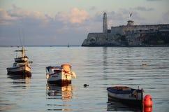 Ingången av Havana Harbor Royaltyfri Fotografi