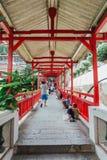 Ingången av Keken Lok Si Temple är en buddistisk tempel i Penang och är en av de bästa bekanta templen på ön arkivfoto