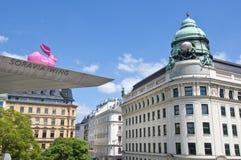 Ingången till det Albertina museet i Wien Arkivbilder