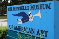 Ingången till det Mennello museet av amerikansk konst Royaltyfria Bilder