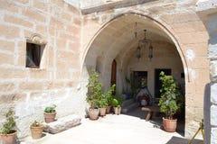 Ingången till det stany huset i Turkiet Royaltyfri Foto