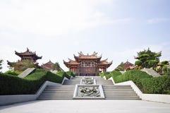 Ingången till det Tian Hou tempelet på den Coloane ön Arkivbild