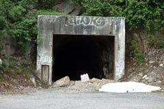 Ingången till en övergiven min Fotografering för Bildbyråer
