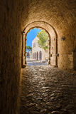 Ingången till Fortezzaen Arkivbilder
