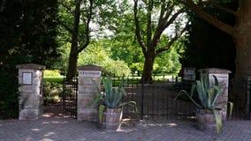 Ingångsbotanisk trädgård royaltyfria bilder
