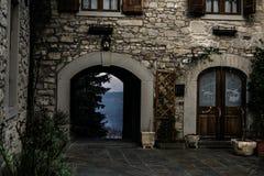 Ingångsbyggnad med sikter, Sestola Arkivbilder
