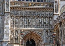 Ingångsdörr av den Westminster abbotskloster i London Royaltyfria Foton