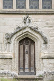 Ingångsdörr, kyrka för helig Treenighet; Stratford Upon Avon; Royaltyfria Foton
