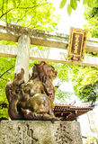 Ingångsport i japansk tempel Royaltyfri Foto