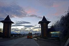 Ingångsportal av ushuaiaen fotografering för bildbyråer