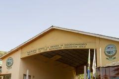 IngångsportNgorongoro naturvårdsområde, Tanzania Arkivfoton