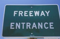Ingångstecken för motorväg Royaltyfri Bild