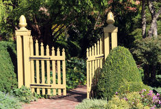 ingångsträdgård till Royaltyfria Foton