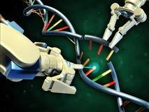 Ingénierie d'ADN Images libres de droits