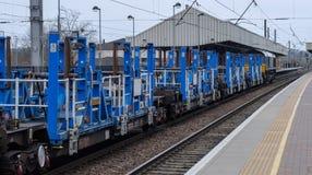 Ingénierie ferroviaire dans le bleu Image stock
