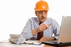 Ingénieur à l'ordinateur Photo stock