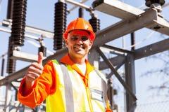 Ingénieur électricien masculin Photos stock