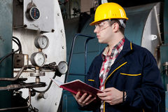 Ingénieur au travail Photo stock