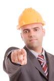 Ingénieur avec le chapeau jaune Photographie stock libre de droits