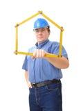 Ingénieur civil avec la règle de pliage image libre de droits