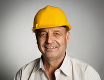 Ingénieur dans le casque Images libres de droits
