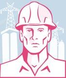 Ingénieur de construction Worker Hardhat Photos libres de droits