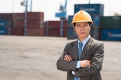 Ingénieur de port Photographie stock libre de droits