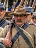 Ingénieur enrôlé par confédéré de la guerre civile américaine Photographie stock libre de droits