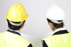 Ingénieur et client sur le site Photo libre de droits