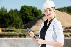 Ingénieur féminin image stock