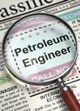 Ingénieur Join Our Team de pétrole 3d Image libre de droits