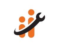 Ingénieur Logo Template Design Vector, emblème, concept de construction, symbole créatif, icône Photographie stock libre de droits