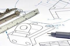 Ingénieur mécanicien 004 Image stock