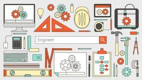 Ingénieur mécanicien illustration de vecteur