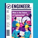 Ingénieur Magazine Cover Image stock