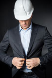 Ingénieur masculin dans le casque Photo libre de droits