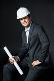 Ingénieur masculin dans le casque Image stock