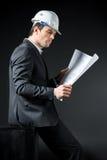 Ingénieur masculin dans le casque Photo stock