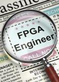 Ingénieur Wanted de FPGA 3d Photo stock