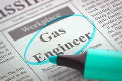 Ingénieur Wanted de gaz 3d Photographie stock libre de droits