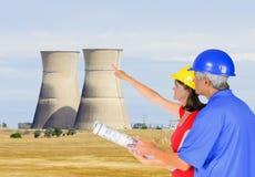 Ingénieurs d'énergie nucléaire Photos stock
