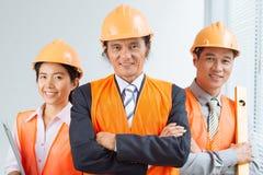 Ingénieurs sûrs Image libre de droits