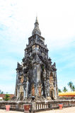 Ing吊Stupa在Savannakhet,老挝 免版税库存照片