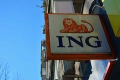 Ing bank Fotografia Royalty Free