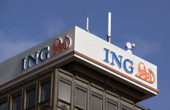 ING Bank in Amsterdam Stock Fotografie